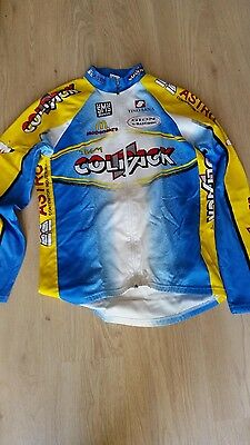 MAILLOT VELO VESTE chaude- Cyclisme - team colpack - CYCLING JERSEY -  RADTRIKOT