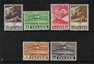 Iceland - 1948 -  from SG 280  - 5 mtd mint  1 used some toning-  cat value  £85