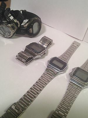 Lot Of 5 Watches Casio, Armitron, Timex