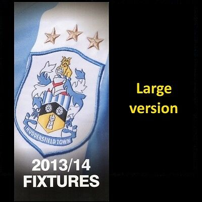 HUDDERSFIELD TOWN fixtures card 2013-14 (large version)