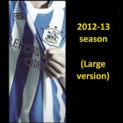 HUDDERSFIELD TOWN fixtures card 2012-13 (large version)