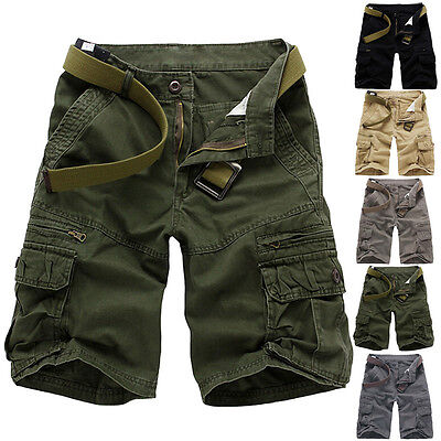 Military Mens Casual ARMY Combat Cargo Work Short Pants Vintage Shorts Trousers