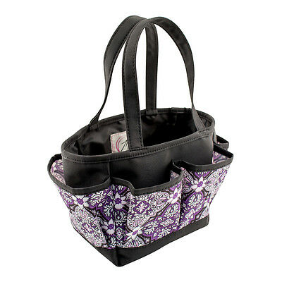 Everything Mary Mini Crafters Tote | Purple Damask | 26 x 17 x 15cm | EVM10496-1