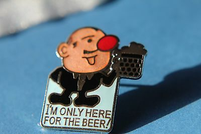 """"""" I'm only here for the beer """" Pin Badge. Ind Coope, Double Diamond."""