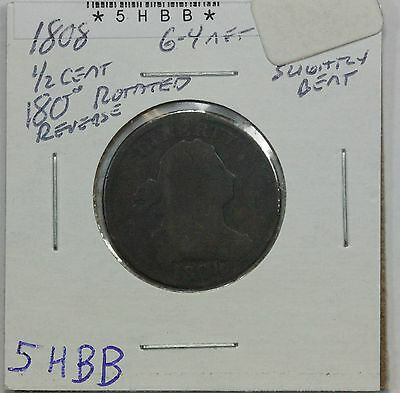1808 Half Cent G 180⁰ Rotated Reverse