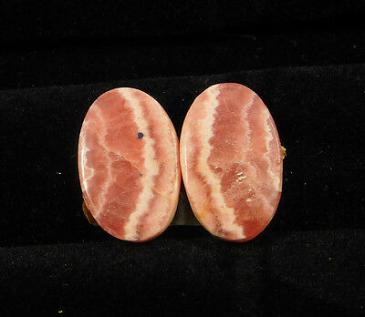 32 Cts. 100% Natural Matched Pair Of Rhodochrosite Loose Cabochon Gemstone(NH385
