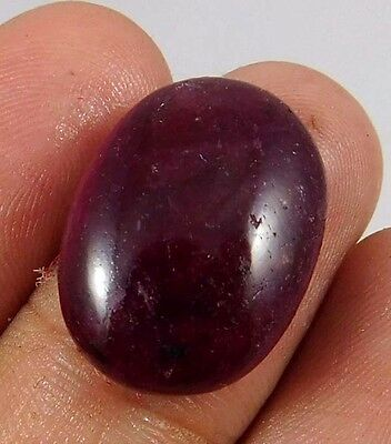 20.70 Cts. NATURAL FABULOUS DYED RUBY LOOSE CAB GEMSTONE (AQ888)