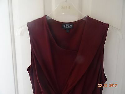 Topshop maternity dress red size 12