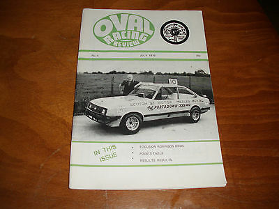 OVAL RACING REVIEW STOCK CAR HOT ROD MAGAZINE BANGERS No. 4 JULY 1979 N IRELAND