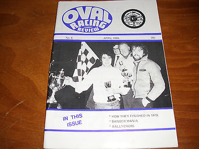 OVAL RACING REVIEW STOCK CAR HOT ROD MAGAZINE BANGERS No. 8 APRIL 1980 N IRELAND