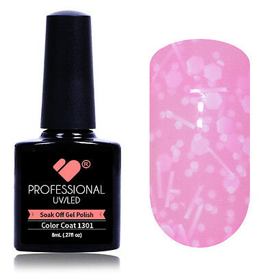"""1301"" VB® Line Milk Pink Neon Glitter UV/LED Soak Off Nail Gel Colour Polish"