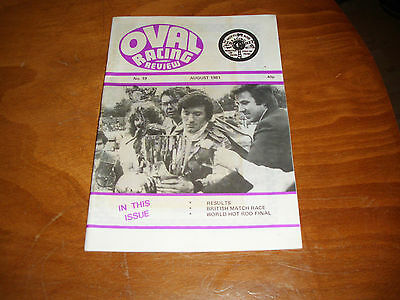 OVAL RACING REVIEW STOCK CAR HOT ROD MAGAZINE BANGERS No. 19 AUG 1981 N IRELAND