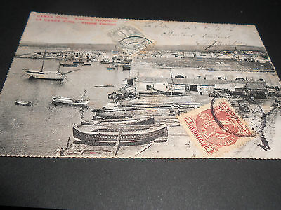 First Crete Stamps On 1907 Ppc Used..very Scarce (1622)