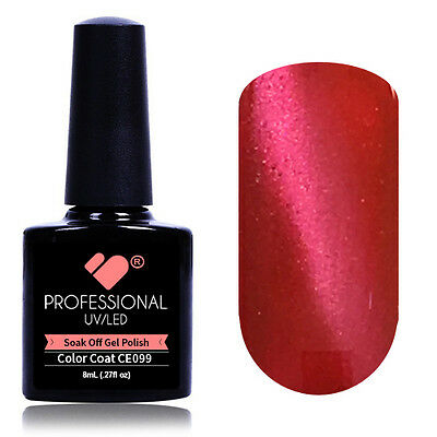 """CE099"" VB® Line Cat Eye Red Metallic UV/LED Soak Off Nail Colour Gel Polish"