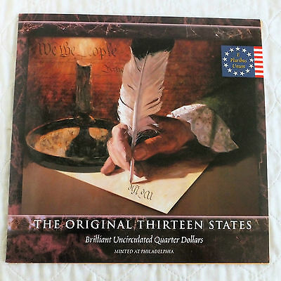 USA 13 COIN STATE QUARTERS P MINTMARK BRILLIANT UNCIRCULATED SET -  sealed pack