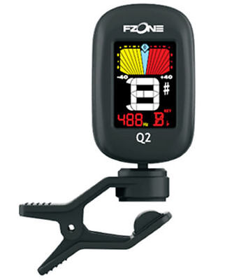 Fzone FT-Q2 CLIP ON CHROMATIC acoustic electric GUITAR BASS UKULELE BANJO TUNER