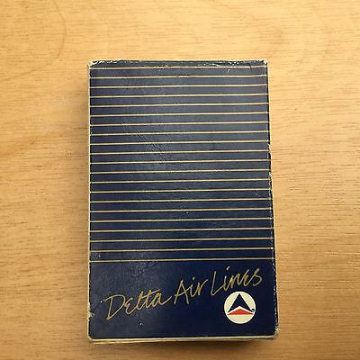 """Vintage DELTA AIRLINES """"BLUE"""" DECK OF PLAYING CARDS."""