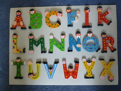 Childrens wooden painted letters