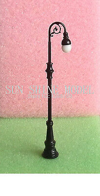 SL2  HO OO TT  4pcs  scale MODEL TRAIN RAILWAY LAYOUT STREET LED lamppost LIGHTS