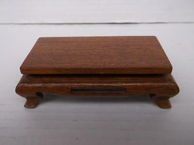 731 / Very Nice Vintage Chinese Hand Carved Wooden Base With A Varnished Finish