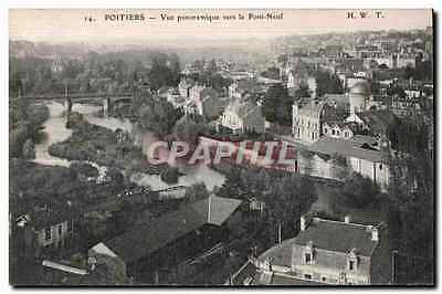 CPA Poitiers Vue panoramique vers le Pont Neuf
