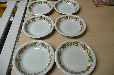"""Wedgewood """"quince Design. Six Cereal Bowls"""