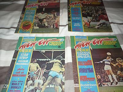 Kick Off Football Comics 1St 4 Issues/1St Issue Still Have Unused Free Gift 1975