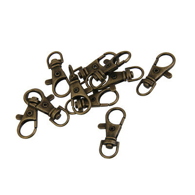 38mm New Style Swivel Clasps Clips Bag Key Ring Hook Findings Keychain 10Pcs