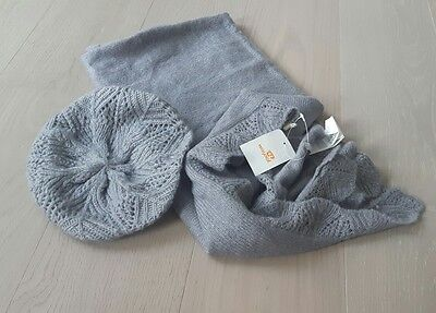 Mayoral set of scarf and hat (grey) for girl (9/12 years old )