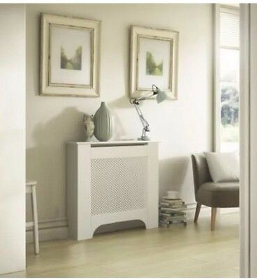 Colours Mayfair Mini White Painted Radiator Cover (H)815mm x (W)780mm x (D)190mm