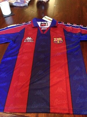 BARCELONA Remake Retro SHIRT KAPPA 1995-97SEASONS Size M Ronaldo 9 Brazil Messi