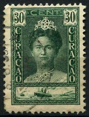 Curacao 1928-32 SG#121, 30c Myrtle Queen Wilhelmia P11.5 Used #D43854