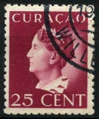 Curacao 1941-2 SG#189, 25c Claret P12.5 Used #D43886