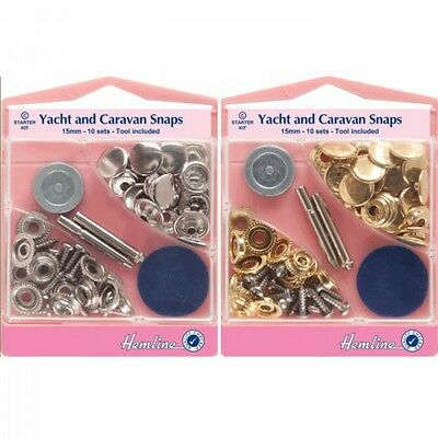 Hemline Screw On Yacht and Caravan Press Snap Fasteners Snaps Press Studs