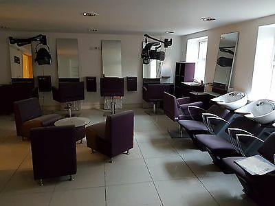 Hair Salon Furniture & Chairs, Barbering Mirror, Reception Seating - RRP £9,000