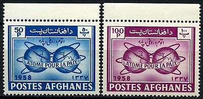 Afghanistan 1958 SG#437-8 Atoms For Peace MNH Set #D43690