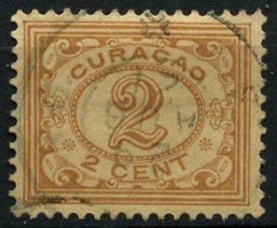 Curacao 1915-33 SG#72, 2c Pale Brown Used #D43811