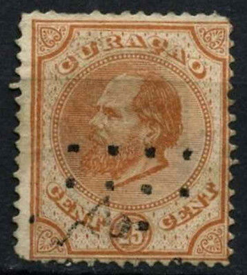 Curacao 1873-9 SG#10, 25c Orange-Brown P14 Used #D43762