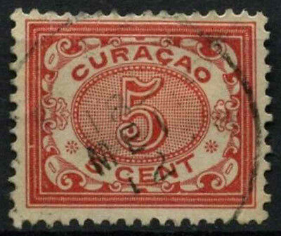 Curacao 1903 SG#58, 5c Rose Used #D43802