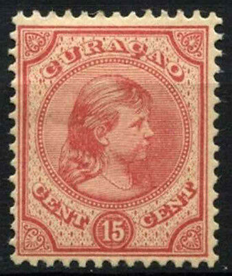 Curacao 1892-6 SG#45, 15c Rose-Red MH #D43780