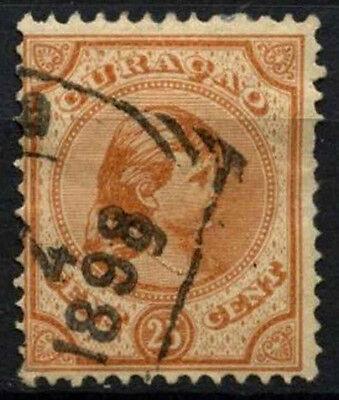 Curacao 1892-6 SG#46, 25c Orange-Brown Used #D43782
