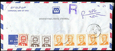 Syria Registered Commercial Cover To Austria #C39295