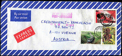 Zambia 1987 Airmail Commercial Cover To Austria #C39310