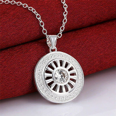 New Fashion Jewelry Lady Silver Necklace Pendant Chain Xmas Gift+Box