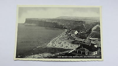 Postcard Saltburn-by- the Sea, The Beach & Huntcliff. Unposted.