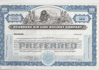 Seaboard Air Line Railway Company.....unissued Stock Certificate