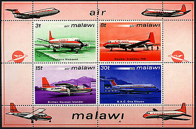 Malawi 1972 SG#MS412 Aircrafts MH M/S Sheet #D42728