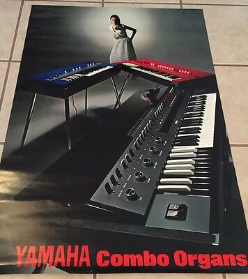 Yamaha Keys/ Organ Vintage In Store Advertising Poster, Rare, 1960'S
