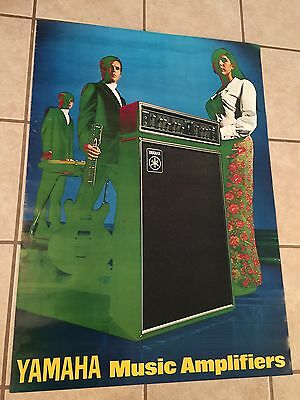 Yamaha Amplifier Vintage In Store Advertising Poster, Rare, Htf!