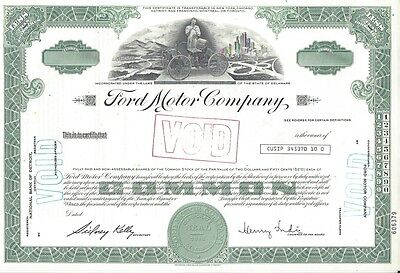 Ford Motor Company........unissued Stock Certificate